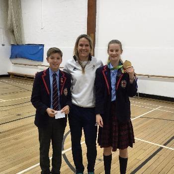 Olympic Gold Medallist Visits School