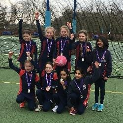 Image of the netball team - St George's School Windsor