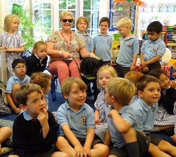 Guide Dogs visit Nursery