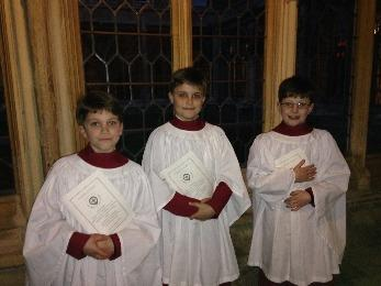 Chorister Surplicing March 2016