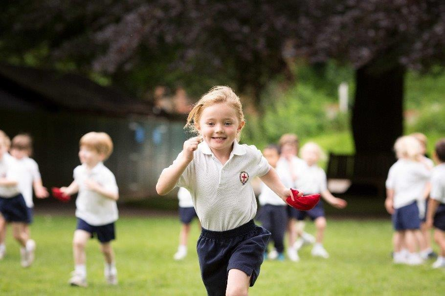 Image of the Lower school playing sports- St George's School Windsor