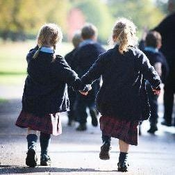 Image of nursery students walking - St George's School Windsor